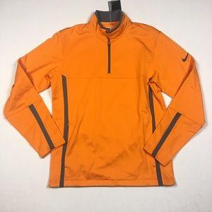 Nike Golf Mens Orange 1/4 Zip Pullover Sweater S